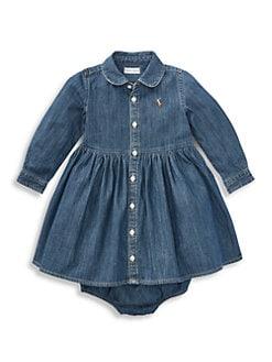 b7f655b74 Ralph Lauren. Baby Girl's Denim Shirtdress