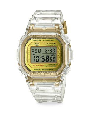 G-Shock Watches Clear Digital Watch