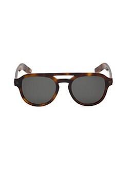 4c4bac15cf4af Ermenegildo Zegna. 51MM Pilot Sunglasses