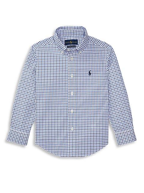 Little Boy's Plaid Button-Down Shirt