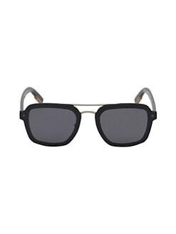 c7f22e191a3d2 Ermenegildo Zegna. 64MM Metal Pilot Sunglasses