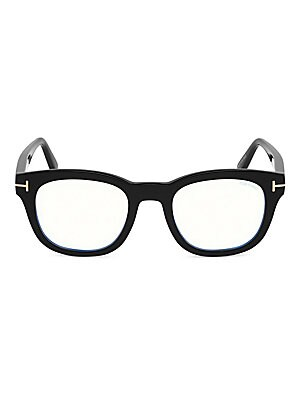 d1a4a6186f6cf Tom Ford - Blue Block 48MM Round Glasses - saks.com
