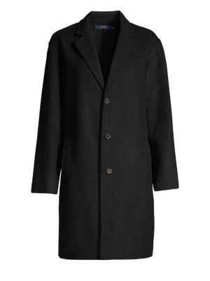 Wool Trench Coat in Black