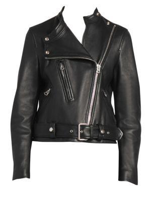 Acne Studios Lewis Leather Moto Jacket