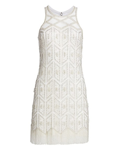 Embroidered Sleeveless Cocktail Sheath Dress