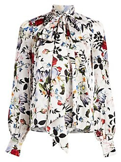 46c231130e5ce Lucien Silk Floral Blouse WHITE MULTI. QUICK VIEW. Product image