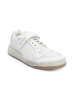 add655f47bba Saint Laurent. Travis Leather Low-Top Sneakers