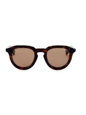 Moncler 48mm Round Sunglasses