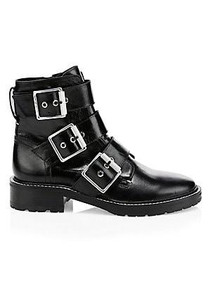 6b7e60480c1b Rag   Bone - Cannon Buckle Leather Boots - saks.com