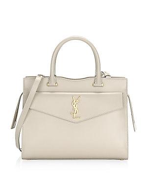 c6c8d74e1f0 Saint Laurent - Small Uptown Cabas Leather Top Handle Bag - saks.com