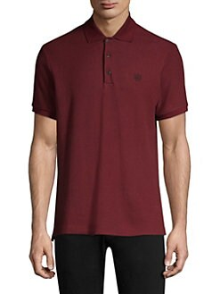 Pique Cotton Polo Shirt BURGUNDY. Product image