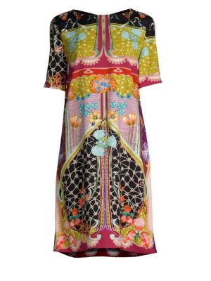 Garden Of Eden 1/2-Sleeve Sheath Dress in Multicoloured