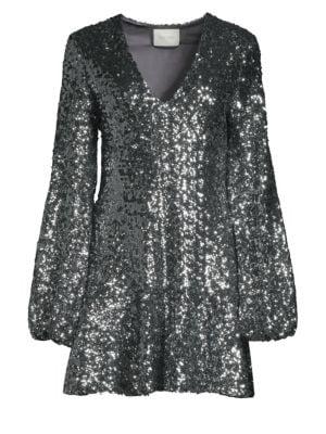 Renada Sequin-Embellished Dress, Sequins