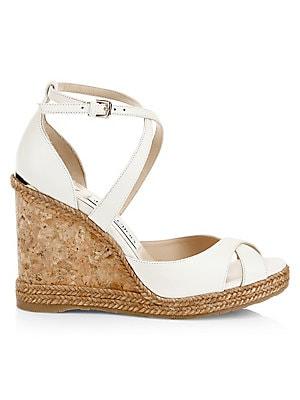 69a89d797fad Jimmy Choo - Alanah Criss-Cross Peep Toe Platform Wedge Sandals