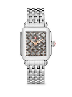 32eb5c191 Product image. QUICK VIEW. Michele Watches. Deco Rose Gold Stainless-Steel  Mosaic Dial Bracelet Watch