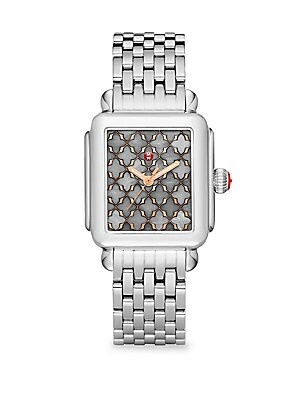 97eba16e753f2e Michele Watches - Deco Rose Gold Stainless-Steel Mosaic Dial Bracelet Watch  - saks.com