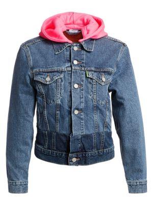 Vetements Jackets Hooded Denim Jacket
