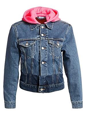 0fed7e173a5092 Vetements - Hooded Denim Jacket - saks.com