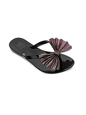 c2cd5c0c0ea0 Mini Melissa - Girl s Mel Bow Thong Sandals - saks.com