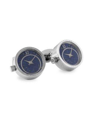 Tateossian Prezioso Watch Rhodium Cufflinks