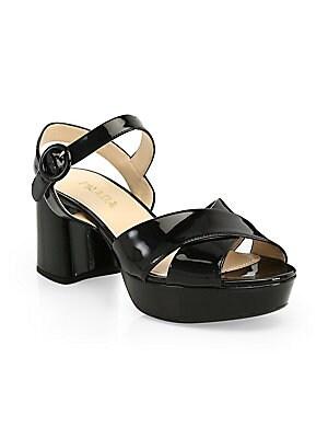 258915d619448 Prada - Leather Platform Sandals