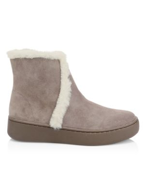 Soludos Suedes Whistler Faux-Shearling Suede Boots