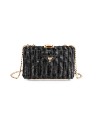 Basket Clutch by Prada