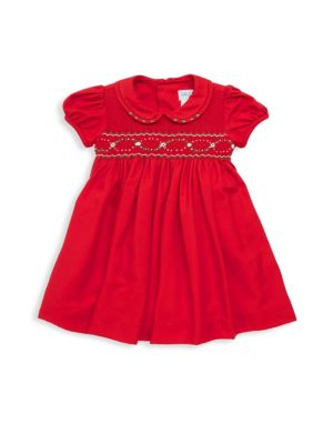 Baby Girl's Smock Fit & Flare Dress by Luli And Me