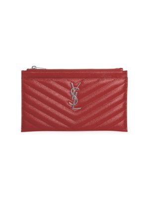 Matelasse Leather Wallet by Saint Laurent