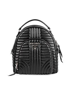 afe9aeb62ffe6 QUICK VIEW. Prada. Diagramme Leather Backpack