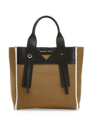 15ca15317dcb Prada - Double Leather Tote - saks.com