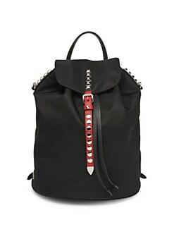 91419dfb0adfe QUICK VIEW. Prada. Nylon Backpack with Studding