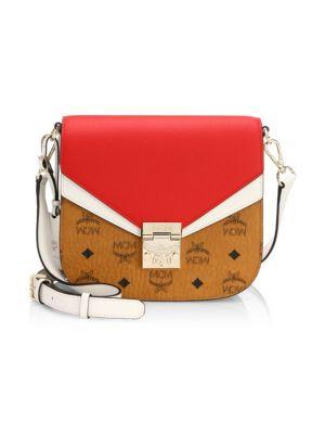 MCM Patricia Leather Logo Shoulder Bag