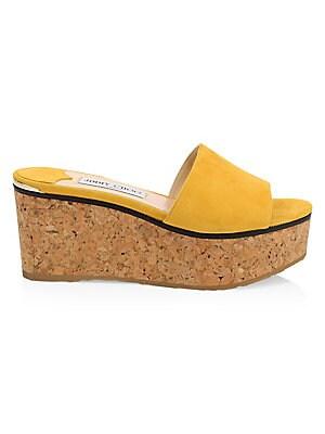 e3de1120b259 Jimmy Choo - DeeDee Leather Wedge Sandals - saks.com