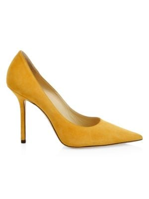 Love Point Toe Suede Pumps by Jimmy Choo