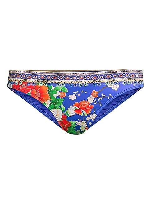 Image of Bikini bottoms featuring a multi-print design. Elasticized waist. Pull-on style. Nylon/elastane. Hand wash. Imported. Please note: Bikini top sold separately