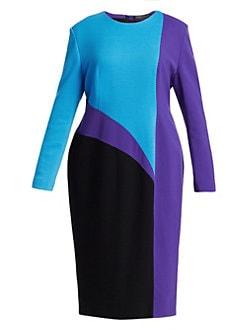 d51adc56a Marina Rinaldi, Plus Size - Fausto Puglisi x Marina Rinaldi Disegno  Colorblock Sheath Dress