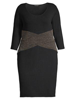 95c77e8764 Marina Rinaldi, Plus Size - Dalila Cady Stretch Bodycon Dress - saks.com