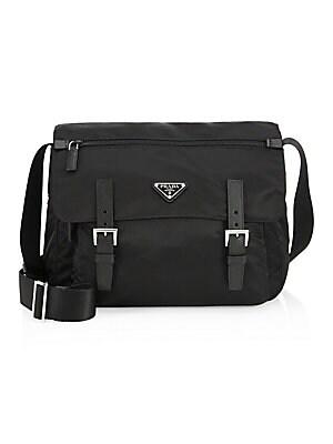 Prada - Vela Leather Trim Messenger Bag a6168f8203