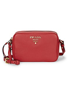 7cccac8ac527 QUICK VIEW. Prada. Daino Textured Leather Mini Crossbody Bag