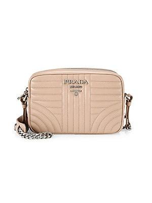 7e2fe962fcd17a Prada - Small Diagramme Leather Camera Bag