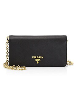 Quick View Prada Chain Leather Wallet