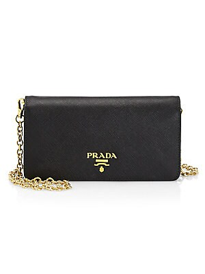 450be089240c norway lyst prada saffiano metal oro chain wallet in red 5e602 f45a7; new  zealand prada chain leather wallet 1585a 3300d
