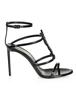 527cd91b20f QUICK VIEW. Saint Laurent. Cassandra Leather Slingback Sandals