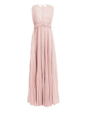 TRE BY NATALIE RATABESI Bon Bon Pleated A-Line Gown in Lilac