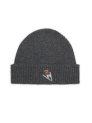 Polo Ralph Lauren - Wool   Cashmere Embroidered Bear Beanie - saks.com 989975d83e6