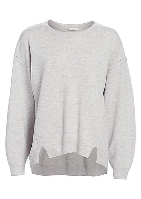 Joie Women's Kyran Bishop Sleeve Wool Sweater Heather Grey Size XS