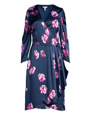 JOIE Miltona Floral Wrap Dress in Midnight