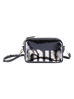 Quick View Miu Paillettes Leather Camera Bag