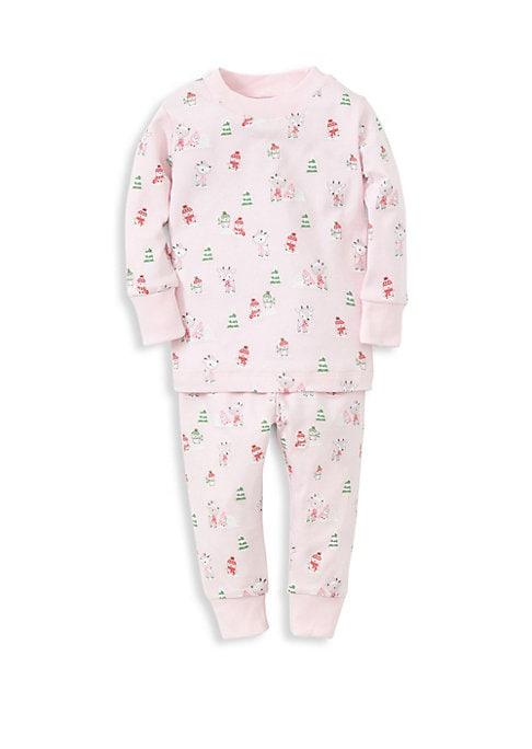 Baby Girls  Little Girls TwoPiece Woodland Print Pajama Set